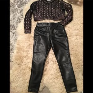 Pants - Vegan leather pants